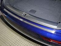 Накладка на задний бампер (нерж.лист, шлифованный, логотип AUDI)