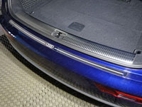 Накладка на задний бампер (нерж.лист, зеркальный, логотип AUDI)
