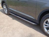 Пороги алюминиевые с пластиковой накладкой (2020мм, карбон-серый)