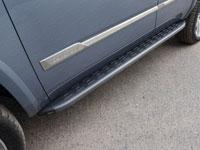 Пороги алюминиевые с пластиковой накладкой (1920мм, карбон-черный)