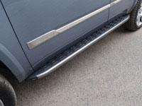 Пороги алюминиевые с пластиковой накладкой (1920мм, карбон-серый)