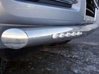 Защита бампера передняя нижняя  - с ходовыми огнями (нерж.сталь, труба 76.1мм)
