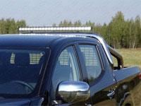 Защита кузова и заднего стекла  - со светодиодной фарой (нерж.сталь, труба 76.1мм)