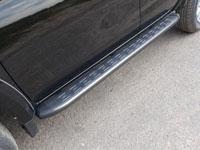 Пороги алюминиевые с пластиковой накладкой (1820мм, карбон-серый)