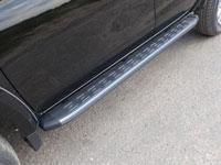 Пороги алюминиевые с пластиковой накладкой (1820мм, карбон-серебро)