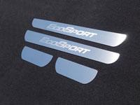 """Накладки на пороги (нерж.лист, шлифованный, надпись """"ECOSPORT"""")"""