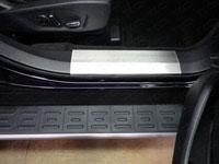 Накладки на пороги (нерж.лист, шлифованные) (комплект, 2шт.)