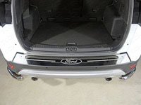 """Накладка на задний бампер (нерж.лист 1мм, зеркальный, логотип """"Ford"""")"""