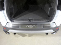 "Накладка на задний бампер (нерж.лист 1мм, шлифованный, логотип ""Ford"")"