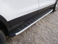 Пороги алюминиевые с пластиковой накладкой (1820мм)
