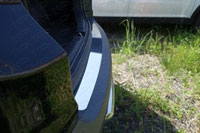 Накладка на задний бампер (нерж.лист, зеркало)