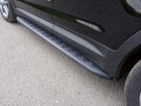 Пороги алюминиевые с пластиковой накладкой (1820мм, карбон-черный)