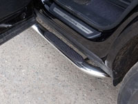 Пороги овальные гнутые (нерж.сталь, овал.труба 75мм/42мм)