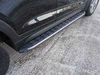 Пороги алюминиевые с пластиковой накладкой (1720мм, карбон-серый)