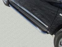 Пороги с площадкой (нерж.труба 60.3мм, нерж.лист)