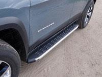 Пороги алюминиевые с пластиковой накладкой (1720мм, карбон-черный)