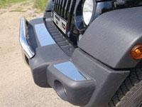 Накладки на передний бампер (нерж.лист, зеркальный) (комплект, 3шт.)