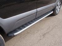 Пороги алюминиевые с пластиковой накладкой (1920мм, карбон-серебро)