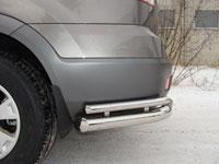 Защита бампера задняя - уголки двойные (нерж.сталь, трубы 76.1мм/42.4мм)