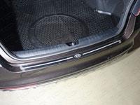 Накладка на задний бампер (нерж.лист, зеркальный, логотип KIA)