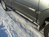Пороги овальные с накладкой (нерж.сталь, овал.труба 75мм/42мм)