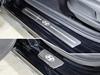 Накладки на пороги (нерж.лист, шлифованный, логотип HYUNDAI, 4шт)