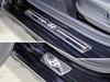 Накладки на пороги (нерж.лист, зеркальный, логотип HYUNDAI, 4шт)
