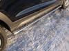 Пороги овальные с проступью (нерж.сталь, овал.труба 75мм/42мм)