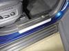 Накладки пластиковые на пороги (нерж.лист, шлифованный, логотип SKODA, 2 шт)