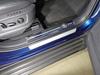 Накладки пластиковые на пороги (нерж.лист, зеркальный, логотип SKODA, 2 шт)